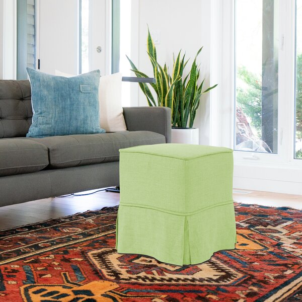 Fenham Skirted Cube Ottoman By Rosecliff Heights New Design