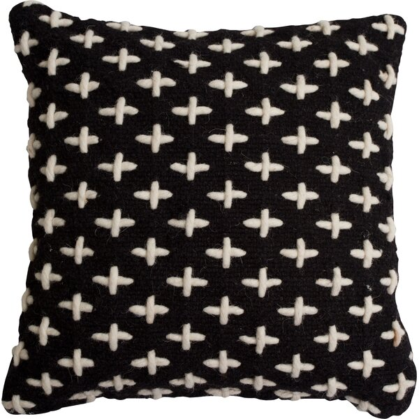 Mima Cross Stitch Wool Throw Pillow by Blu Dot