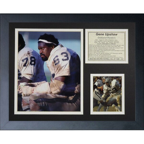 Gene Upshaw Framed Memorabilia by Legends Never Die