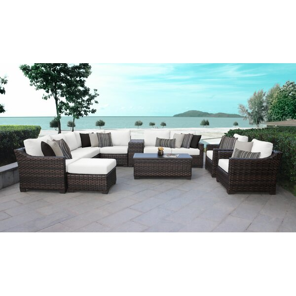 kathy ireland Homes & Gardens River Brook 12 Piece Sectional Seating Group by kathy ireland Homes & Gardens by TK Classics kathy ireland Homes & Gardens by TK Classics