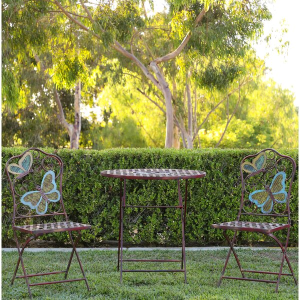 Luanne Butterfly 3 Piece Bistro Set By Winston Porter