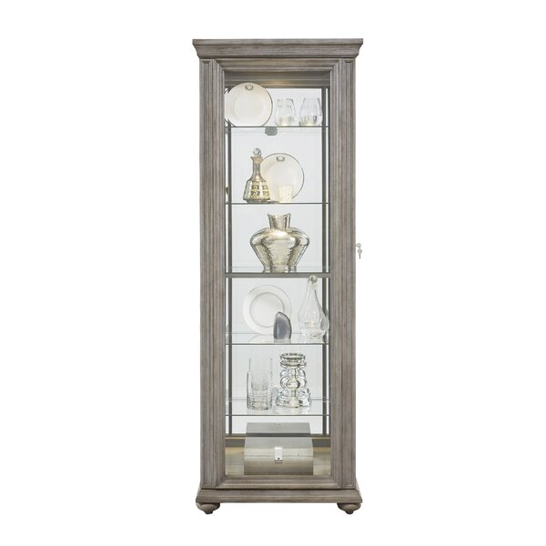Tiano Lighted Curio Cabinet by Charlton Home