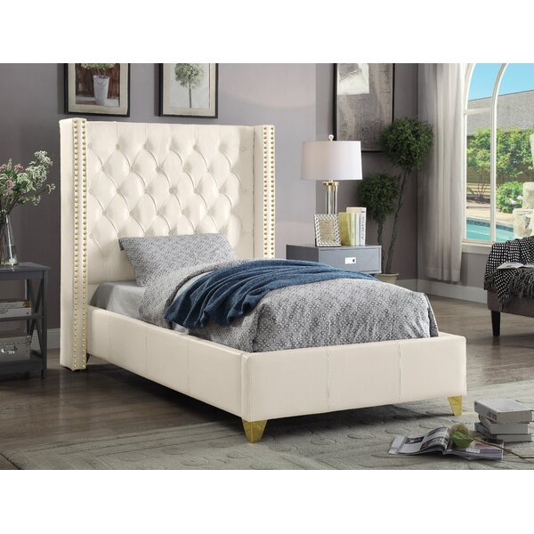 Holmes Upholstered Platform Bed by Rosdorf Park