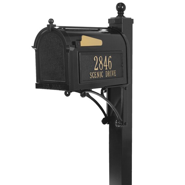 Deluxe Package Post Mounted Mailbox by Whitehall Products