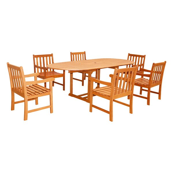Hurst 7-Piece Dining Set by Rosecliff Heights
