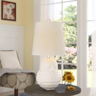 Compare Malito Hoot Ceramic 20.5 Table Lamp By Red Barrel Studio