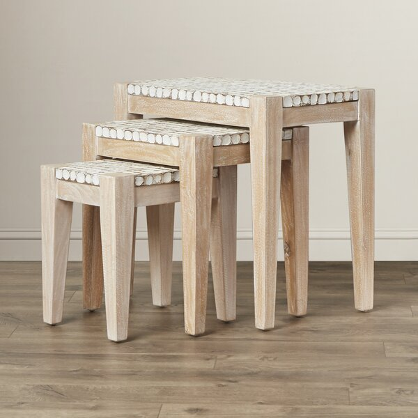 Sherlyn 3 Piece Nesting Table Set by Beachcrest Home