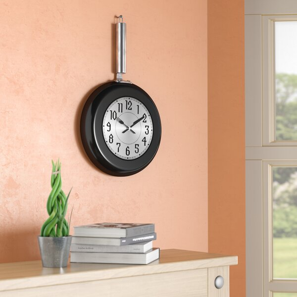 Perryville lron Frying Pan Wall Clock by Wrought Studio