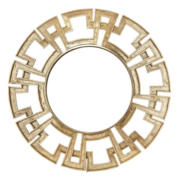 Greek Key Metal Accent Mirror by Benzara