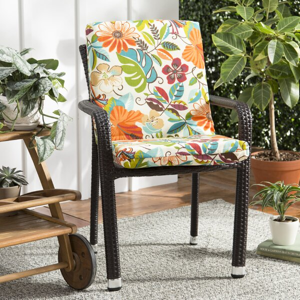 Guadaloue Indoor/Outdoor Dining Chair Cushion by Bay Isle Home