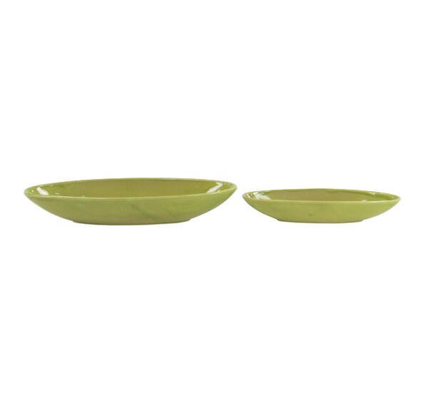 Leesburg Contemporary 2-Piece Ceramic Pot Planter Set by Bay Isle Home