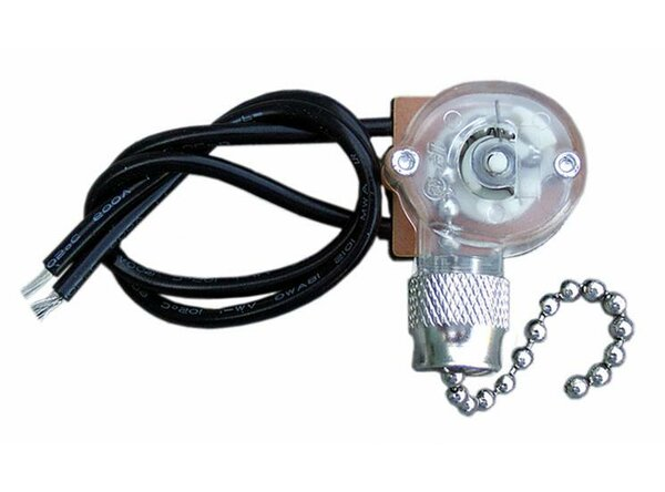 Ceiling Pull Chain Switch in Nickel by Morris Products