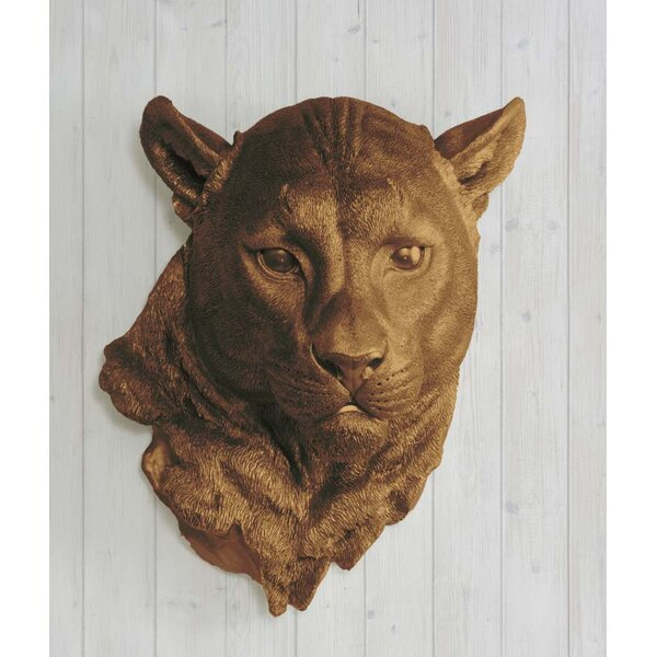 Yosemite Faux Taxidermy Cougar Head Wall Décor by Wall Charmers