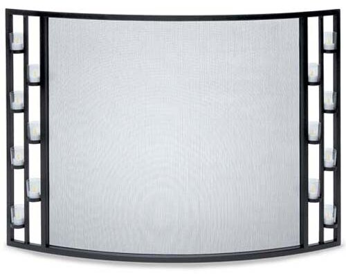 Tea Light Single Panel Steel Fireplace Screen By Pilgrim Hearth
