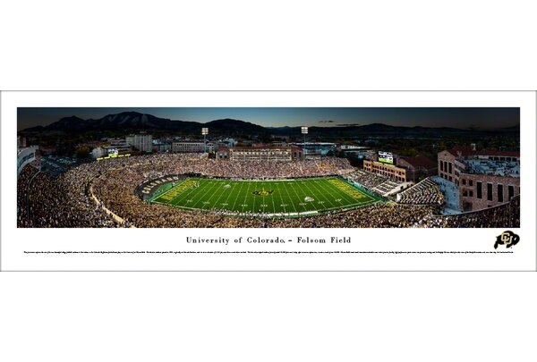 NCAA Colorado Buffaloes Football 50 Yard Line Photographic Print by Blakeway Worldwide Panoramas, Inc