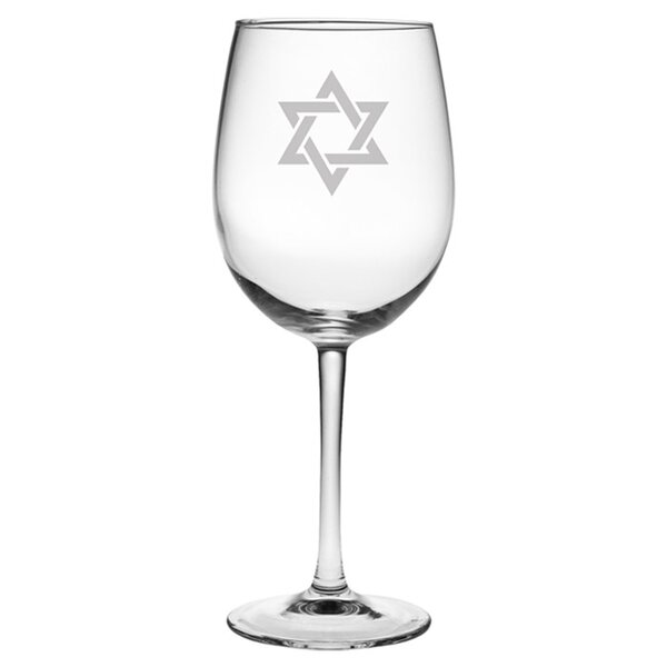 Star of David Wine Glass (Set of 4) by Susquehanna Glass