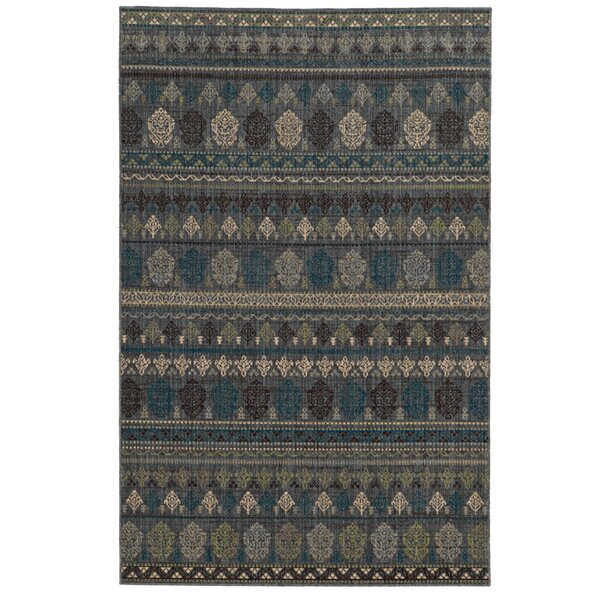 Vintage Power Loom Wool Blue Rug