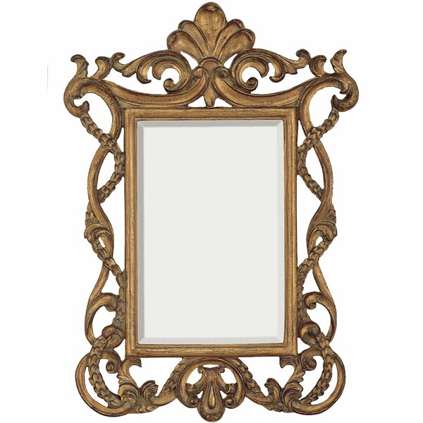 Elegant Traditional Rectangular Gold Beveled Glass Wall Mirror by Majestic Mirror