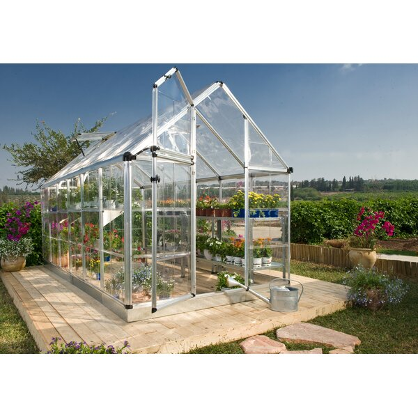 Snap & Grow 6 Ft. W x 16 Ft. D Polycarbonate Greenhouse by Palram