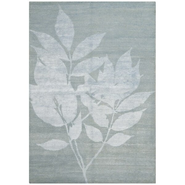 Rassuli Hand-Knotted Light Gray Area Rug by Latitude Run