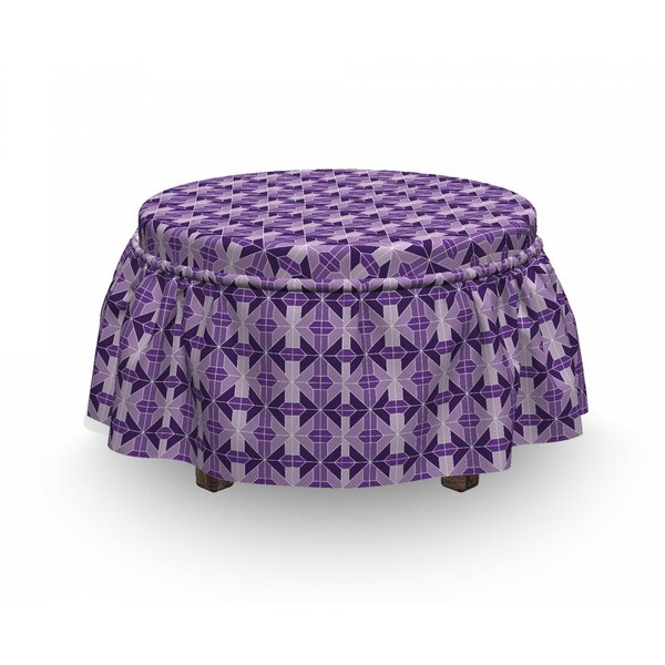 Traditional Tiles Ottoman Slipcover (Set Of 2) By East Urban Home