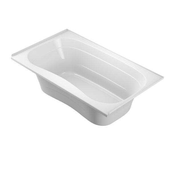 Signa Bath Tile-Flange Right-Hand White72 L x 42 W Drop In Soaking Bathtub by Jacuzzi®