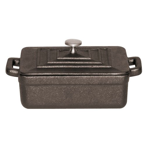 Tabletop Cookware 0.01 Qt. Cast Iron Rectangular Casserole (Set of 3) by Paderno World Cuisine