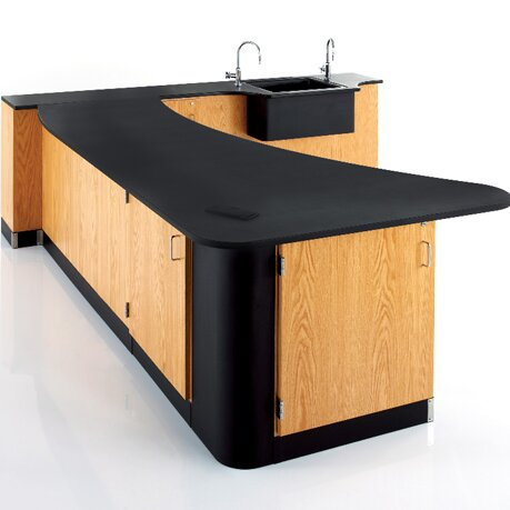 Peninsula Workstation by Diversified Woodcrafts
