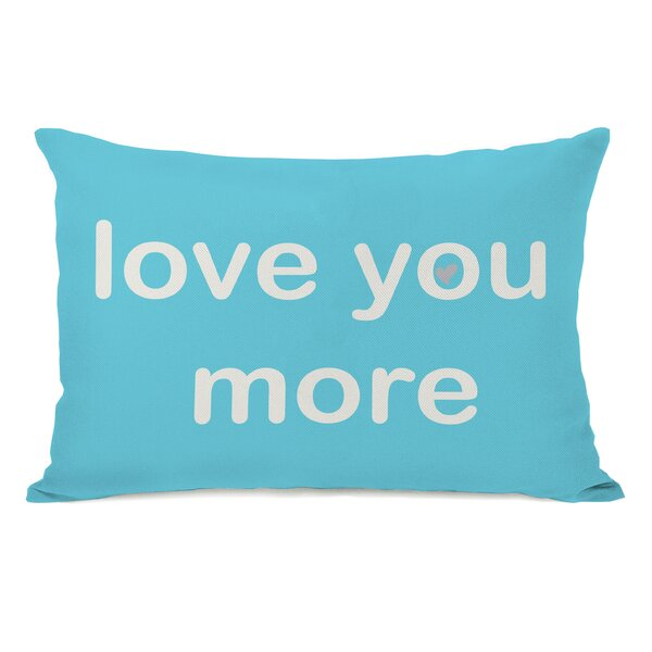 Love You Lots/Love You More Reversible Lumbar Pillow by One Bella Casa