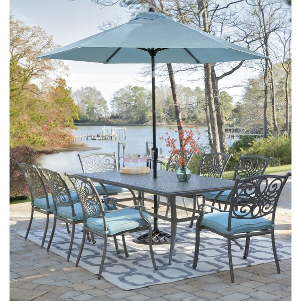 Carleton 7 Piece Patio Dining Set with Cushions by Fleur De Lis Living