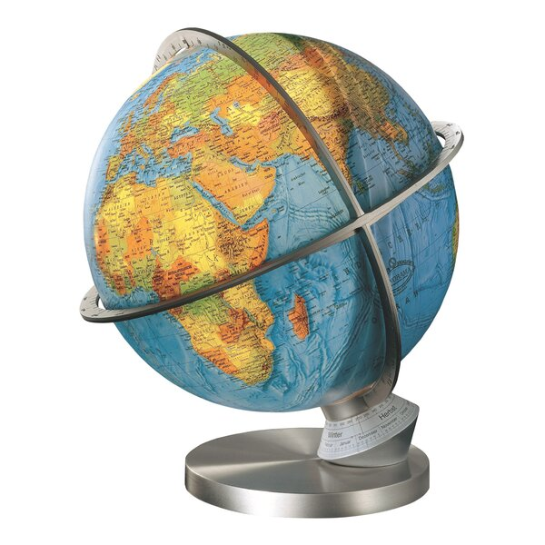 Marco Polo Illuminated Desktop Globe with Brass Base by Columbus Globe