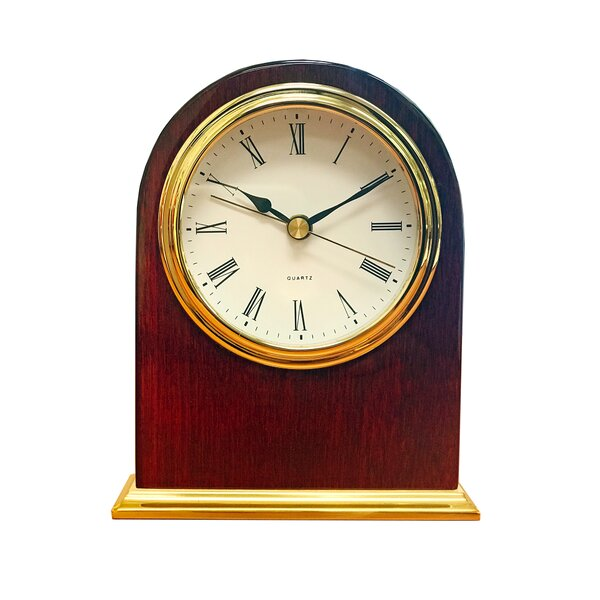 Arch Wood Desk Tabletop Clock by Alcott Hill