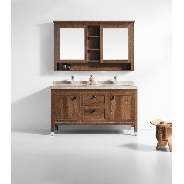 Jolly 60 Double Bathroom Vanity Set with Mirror by Loon Peak