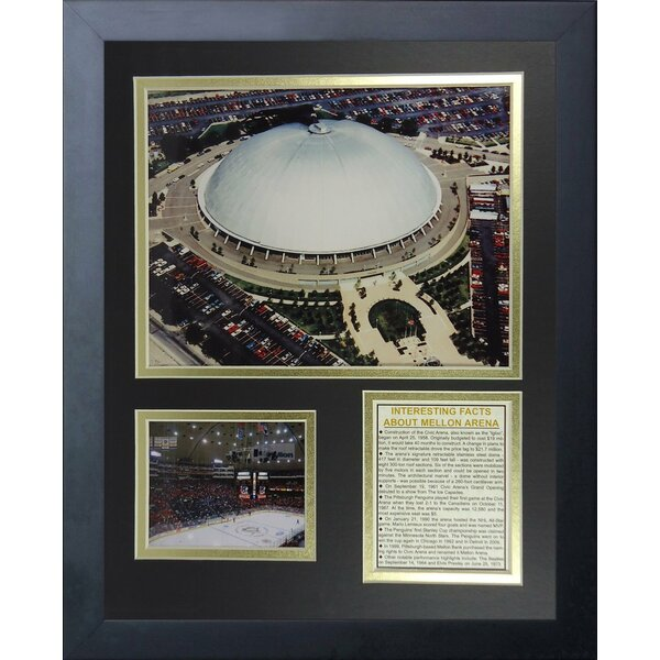 Pittsburgh Penguins Mellon Arena Framed Memorabilia by Legends Never Die