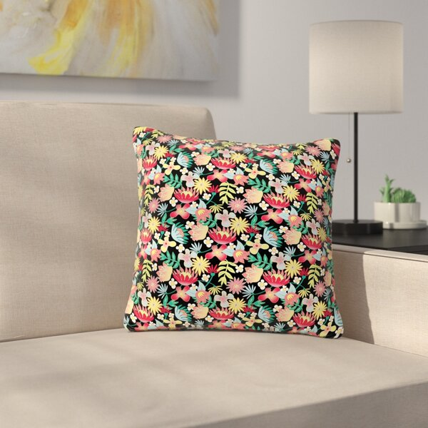 DLKG Design Flower Power Outdoor Throw Pillow by East Urban Home