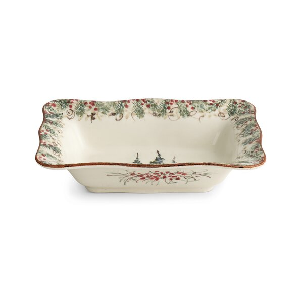 Natale Rectangular Bowl by Arte Italica