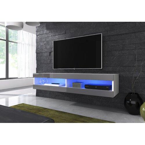 Tv Lowboard Korando Fur Tvs Bis Zu 65 Metro Lane Farbe Weiss Silberfarben Moebel Suchmaschine Ladendirekt De