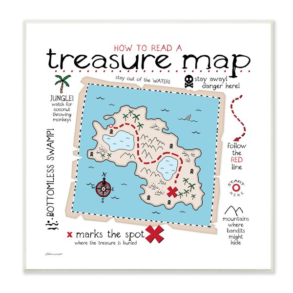 Paxson How to Read Treasure Map Wall Plaque by Harriet Bee