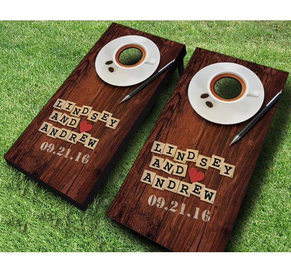 Couples Word Game Wedding Cornhole Set by AJJ Cornhole