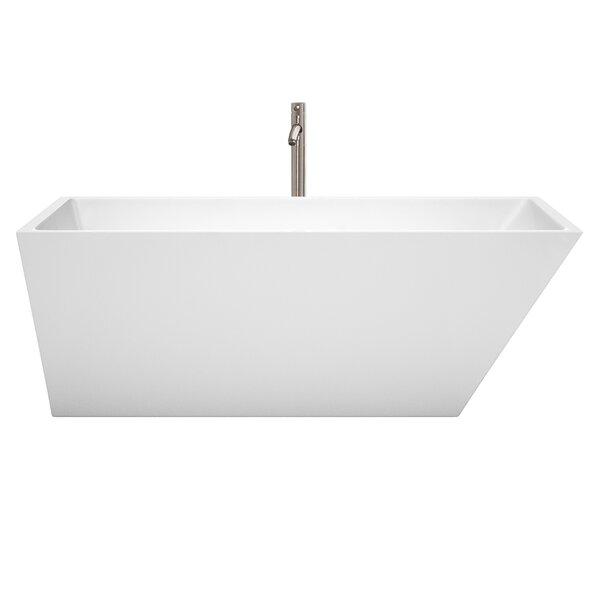 Hannah 67 x 31.5 Freestanding Soaking Bathtub by Wyndham Collection