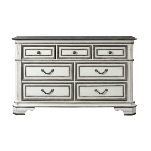 Newsom 7 Drawer Double Dresser by House of Hampton