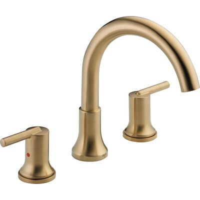 Delta Deck Mount Double Handleed Tub Faucet Trim Bronze Faucets