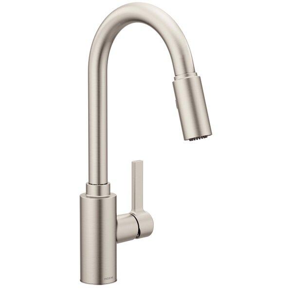 Genta Single Handle Pulldown Kitchen Faucet with Power Clean™, Reflex™, Duralock™ by Moen