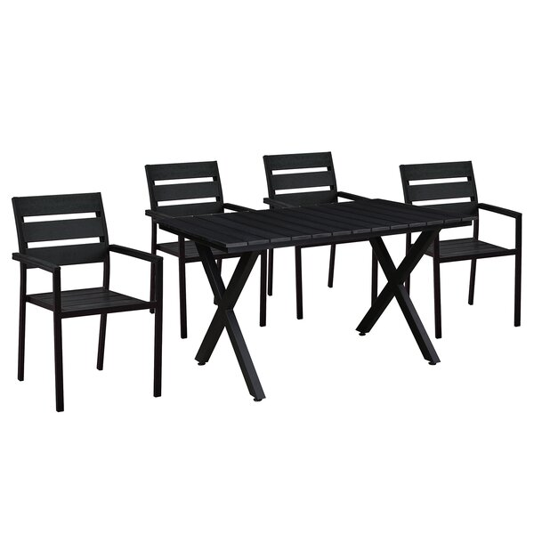 Mindenmines Modern Contemporary 5 Piece Dining Set by Wrought Studio