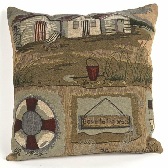 Albin Tapestry Gone to the Beach Pillow Cover by Highland Dunes