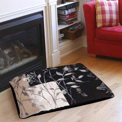 African Leaf Abstract Pet Bed by Manual Woodworkers & Weavers