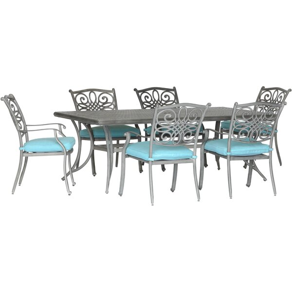 Worceer 7 Piece Dining Set with Cushion by Charlton Home
