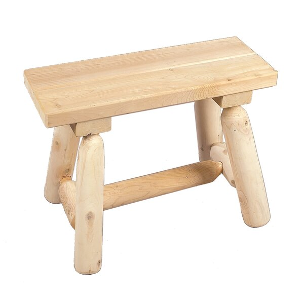 Straight Wood Garden Bench by Rustic Natural Cedar Furniture