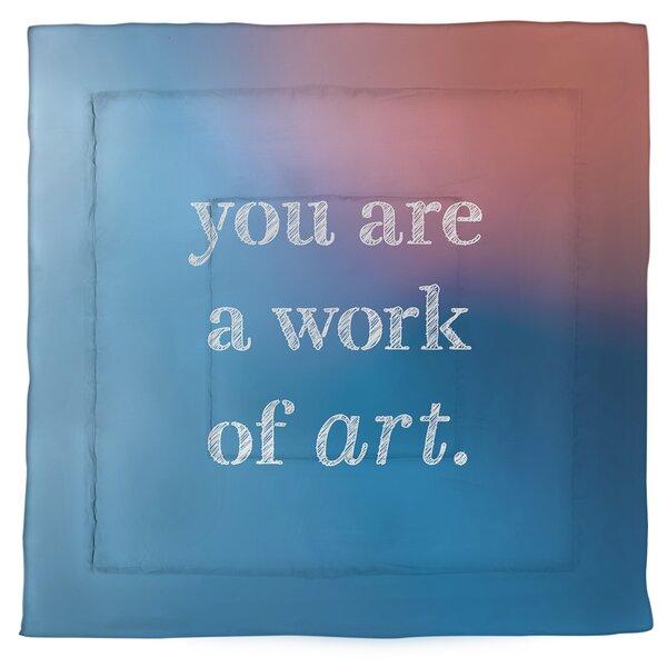 Work Of Art Quote Single Reversible Comforter