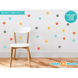 Polka Dot Fabric Wall Decal (Set of 48)